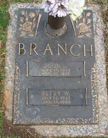 BRANCH, JOHN L. - Saline County, Arkansas   JOHN L. BRANCH - Arkansas Gravestone Photos