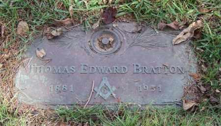 BRATTON, THOMAS EDWARD - Saline County, Arkansas | THOMAS EDWARD BRATTON - Arkansas Gravestone Photos