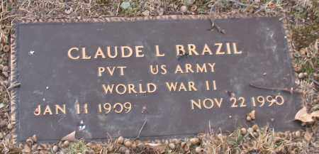 BRAZIL (VETERAN WWII), CLAUDE L. - Saline County, Arkansas | CLAUDE L. BRAZIL (VETERAN WWII) - Arkansas Gravestone Photos