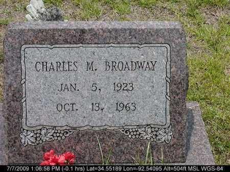 BROADWAY, CHARLES M. - Saline County, Arkansas | CHARLES M. BROADWAY - Arkansas Gravestone Photos