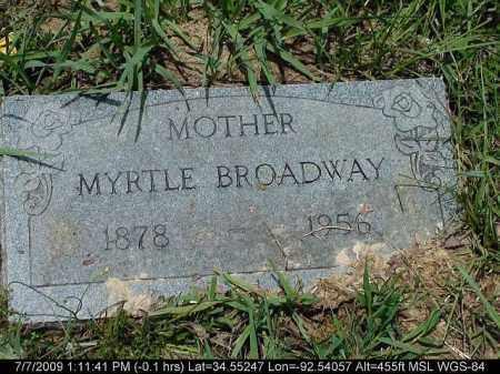BROADWAY, MYRTLE - Saline County, Arkansas   MYRTLE BROADWAY - Arkansas Gravestone Photos