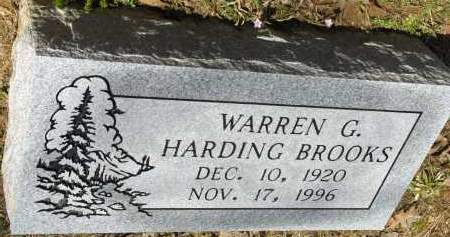 BROOKS, WARREN G. HARDING - Saline County, Arkansas | WARREN G. HARDING BROOKS - Arkansas Gravestone Photos