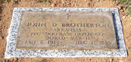 BROTHERTON (VETERAN WWII), JOHN D - Saline County, Arkansas | JOHN D BROTHERTON (VETERAN WWII) - Arkansas Gravestone Photos