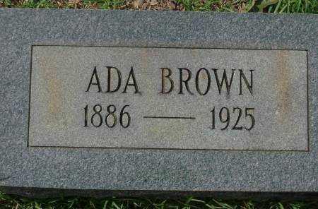 BROWN, ADA - Saline County, Arkansas   ADA BROWN - Arkansas Gravestone Photos