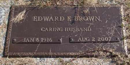 BROWN, EDWARD E. - Saline County, Arkansas | EDWARD E. BROWN - Arkansas Gravestone Photos