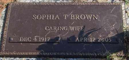 BROWN, SOPHIA T. - Saline County, Arkansas | SOPHIA T. BROWN - Arkansas Gravestone Photos