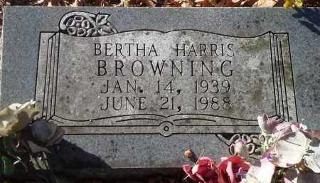HARRIS BROWNING, BERTHA - Saline County, Arkansas   BERTHA HARRIS BROWNING - Arkansas Gravestone Photos