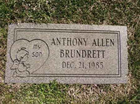 BRUNDRETT, ANTHONY ALLEN - Saline County, Arkansas | ANTHONY ALLEN BRUNDRETT - Arkansas Gravestone Photos