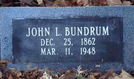 BUNDRUM, JOHN L - Saline County, Arkansas | JOHN L BUNDRUM - Arkansas Gravestone Photos