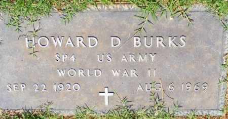 BURKS (VETERAN WWII), HOWARD D - Saline County, Arkansas | HOWARD D BURKS (VETERAN WWII) - Arkansas Gravestone Photos
