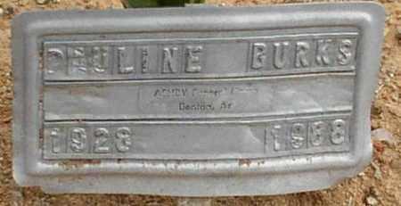 BURKS, PAULINE - Saline County, Arkansas   PAULINE BURKS - Arkansas Gravestone Photos