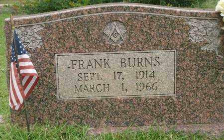 BURNS, FRANK - Saline County, Arkansas   FRANK BURNS - Arkansas Gravestone Photos