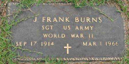BURNS  (VETERAN WWII), J FRANK - Saline County, Arkansas | J FRANK BURNS  (VETERAN WWII) - Arkansas Gravestone Photos