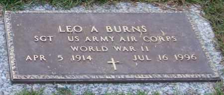BURNS (VETERAN WWII), LEO A - Saline County, Arkansas | LEO A BURNS (VETERAN WWII) - Arkansas Gravestone Photos