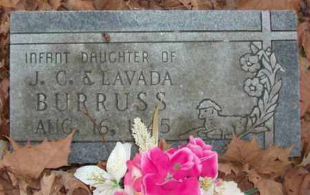 BURRUSS, INFANT DAUGHTER - Saline County, Arkansas | INFANT DAUGHTER BURRUSS - Arkansas Gravestone Photos