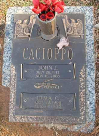 CACIOPPO, JOHN J. - Saline County, Arkansas   JOHN J. CACIOPPO - Arkansas Gravestone Photos