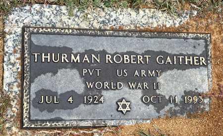 GAITHER (VETERAN WWII), THURMAN ROBERT - Saline County, Arkansas | THURMAN ROBERT GAITHER (VETERAN WWII) - Arkansas Gravestone Photos
