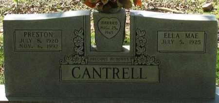 CANTRELL, PRESTON - Saline County, Arkansas | PRESTON CANTRELL - Arkansas Gravestone Photos