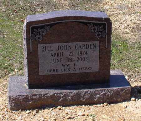 CARDEN (VETERAN WWII), BILL JOHN - Saline County, Arkansas | BILL JOHN CARDEN (VETERAN WWII) - Arkansas Gravestone Photos