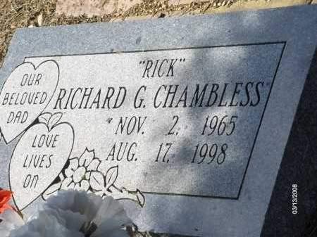 """CHAMBLESS, RICHARD G. """"RICK"""" - Saline County, Arkansas   RICHARD G. """"RICK"""" CHAMBLESS - Arkansas Gravestone Photos"""