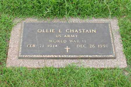 CHASTAIN (VETERAN WWII), OLLIE L. - Saline County, Arkansas | OLLIE L. CHASTAIN (VETERAN WWII) - Arkansas Gravestone Photos