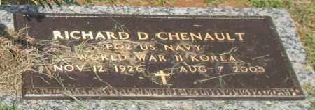 CHENAULT (VETERAN 2 WARS), RICHARD D - Saline County, Arkansas | RICHARD D CHENAULT (VETERAN 2 WARS) - Arkansas Gravestone Photos