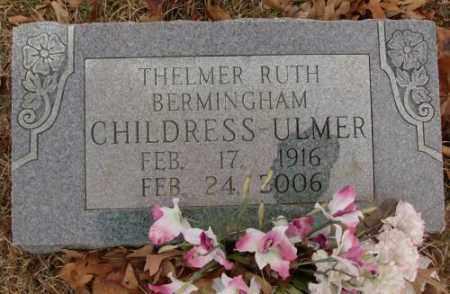 CHILDRESS-ULMER, THELMER RUTH - Saline County, Arkansas   THELMER RUTH CHILDRESS-ULMER - Arkansas Gravestone Photos