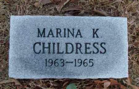 CHILDRESS, MARINA K. - Saline County, Arkansas | MARINA K. CHILDRESS - Arkansas Gravestone Photos