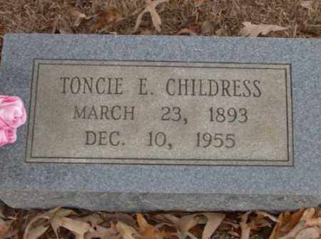 CHILDRESS, TONCIE E. - Saline County, Arkansas | TONCIE E. CHILDRESS - Arkansas Gravestone Photos
