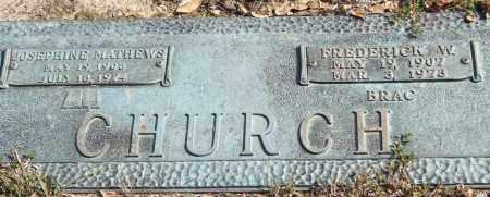 MATHEWS CHURCH, JOSEPHINE - Saline County, Arkansas | JOSEPHINE MATHEWS CHURCH - Arkansas Gravestone Photos