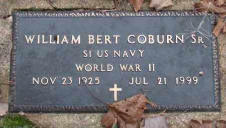 COBURN, SR (VETERAN WWII), WILLIAM BERT - Saline County, Arkansas | WILLIAM BERT COBURN, SR (VETERAN WWII) - Arkansas Gravestone Photos