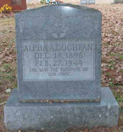 COCHRAN, ALPHA A. - Saline County, Arkansas | ALPHA A. COCHRAN - Arkansas Gravestone Photos