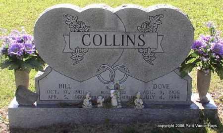 WILLIS COLLINS, DOVE - Saline County, Arkansas   DOVE WILLIS COLLINS - Arkansas Gravestone Photos