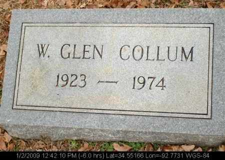COLLUM, W GLEN - Saline County, Arkansas | W GLEN COLLUM - Arkansas Gravestone Photos