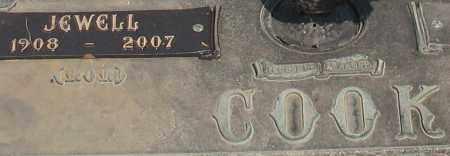 COOK, JEWELL (CLOSEUP) - Saline County, Arkansas | JEWELL (CLOSEUP) COOK - Arkansas Gravestone Photos