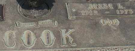 COOK, JESSE L (CLOSEUP) - Saline County, Arkansas | JESSE L (CLOSEUP) COOK - Arkansas Gravestone Photos