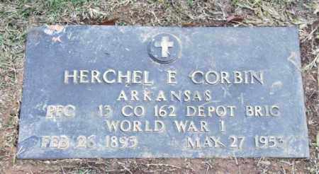 CORBIN (VETERAN WWI), HERCHEL E - Saline County, Arkansas | HERCHEL E CORBIN (VETERAN WWI) - Arkansas Gravestone Photos