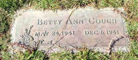 COUCH, BETTY ANN - Saline County, Arkansas | BETTY ANN COUCH - Arkansas Gravestone Photos