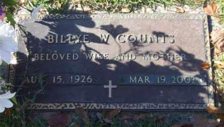 COUNTS, BILLYE W. - Saline County, Arkansas   BILLYE W. COUNTS - Arkansas Gravestone Photos