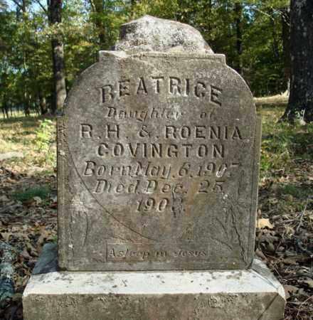 COVINGTON, BEATRICE - Saline County, Arkansas   BEATRICE COVINGTON - Arkansas Gravestone Photos
