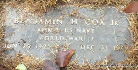 COX, JR. (VETERAN WWII), BENJAMIN H - Saline County, Arkansas | BENJAMIN H COX, JR. (VETERAN WWII) - Arkansas Gravestone Photos