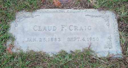 CRAIG, CLAUD F. - Saline County, Arkansas   CLAUD F. CRAIG - Arkansas Gravestone Photos