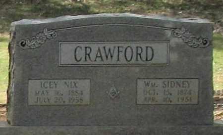 NIX CRAWFORD, ICEY - Saline County, Arkansas | ICEY NIX CRAWFORD - Arkansas Gravestone Photos