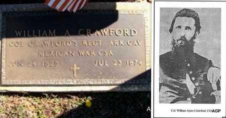 CRAWFORD (VETERAN 2 WARS), WILLIAM AYERS - Saline County, Arkansas   WILLIAM AYERS CRAWFORD (VETERAN 2 WARS) - Arkansas Gravestone Photos