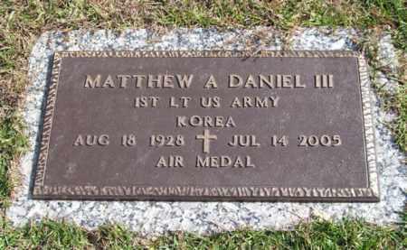 DANIEL III (VETERAN KOR), MATTHEW A. - Saline County, Arkansas | MATTHEW A. DANIEL III (VETERAN KOR) - Arkansas Gravestone Photos