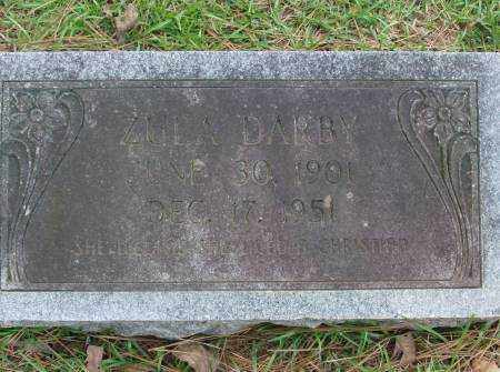 DARBY, ZULA - Saline County, Arkansas   ZULA DARBY - Arkansas Gravestone Photos