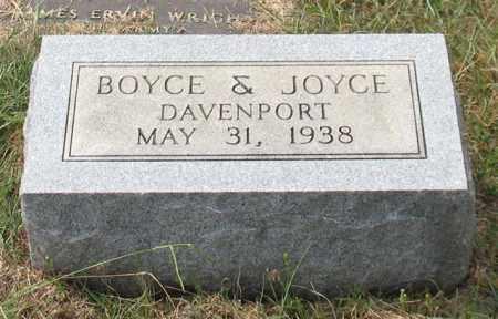 DAVENPORT, BOYCE - Saline County, Arkansas | BOYCE DAVENPORT - Arkansas Gravestone Photos