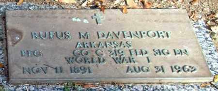 DAVENPORT (VETERAN WWI), RUFUS M - Saline County, Arkansas | RUFUS M DAVENPORT (VETERAN WWI) - Arkansas Gravestone Photos