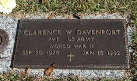 DAVENPORT (VETERAN WWII), CLARENCE W - Saline County, Arkansas | CLARENCE W DAVENPORT (VETERAN WWII) - Arkansas Gravestone Photos