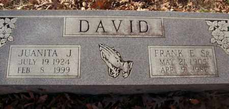 DAVID, SR, FRANK E. - Saline County, Arkansas | FRANK E. DAVID, SR - Arkansas Gravestone Photos